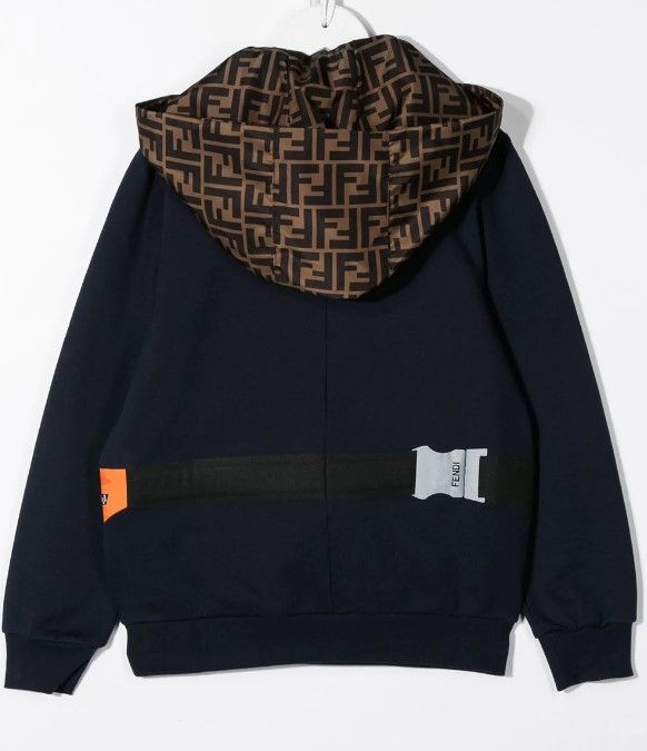 JMH117 / NAVY / Fendi Bug Bag Print Hoodie