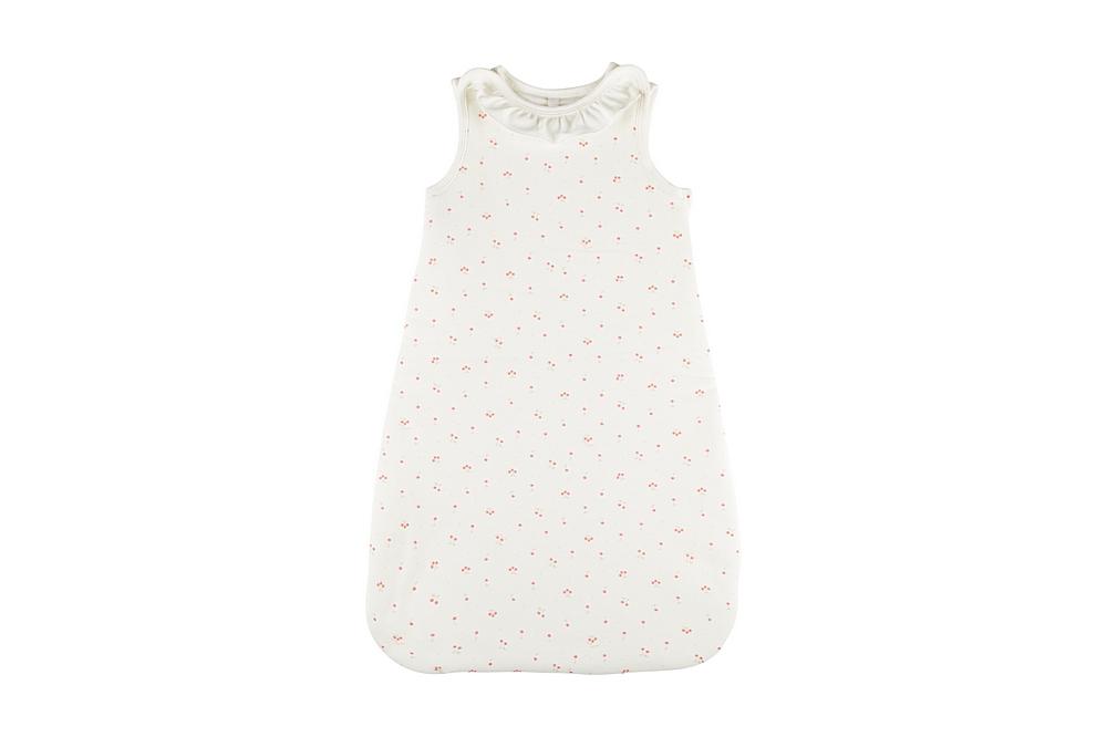 59220 MONNAIE / 01 WHITE PINK / Baby Girl Cherry Print Bunting