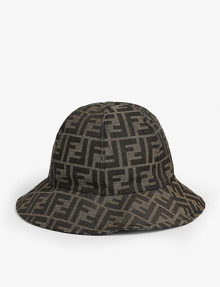 JUP009.AAQ1.F15 / BROWN / Fendi Monogram Bucket Hat