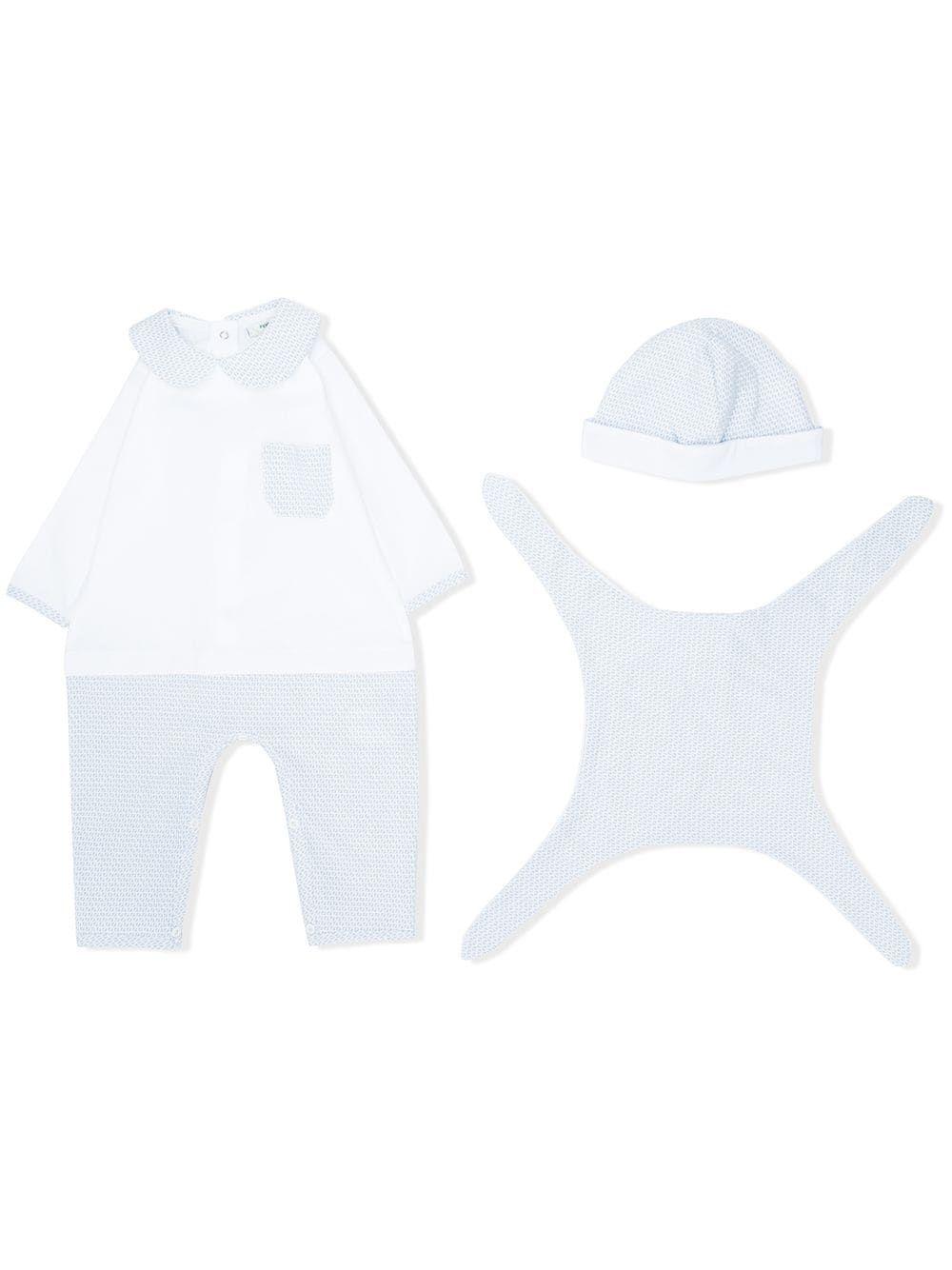FSW232 / BLUE / FENDI BABY MONOGRAM GIFT SET