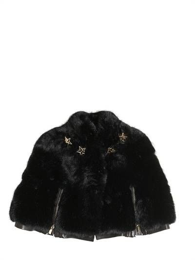 H16008 / BLACK / Givenchy Faux Fur Cape