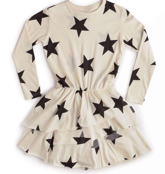 NU2783A / NATURAL / Natural Star Layered Dress