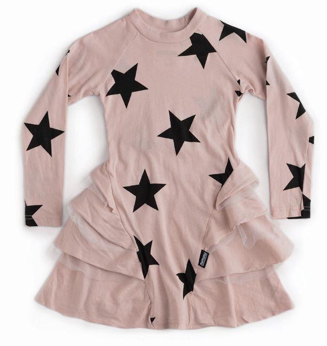 NU2785A / POWDER PINK / Star Multy Layered Dress