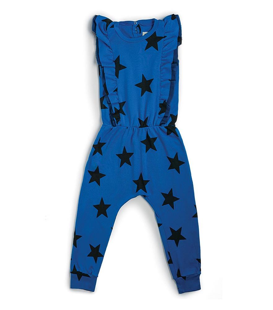 NU2946A / BLUE / Star Ruffled Romper