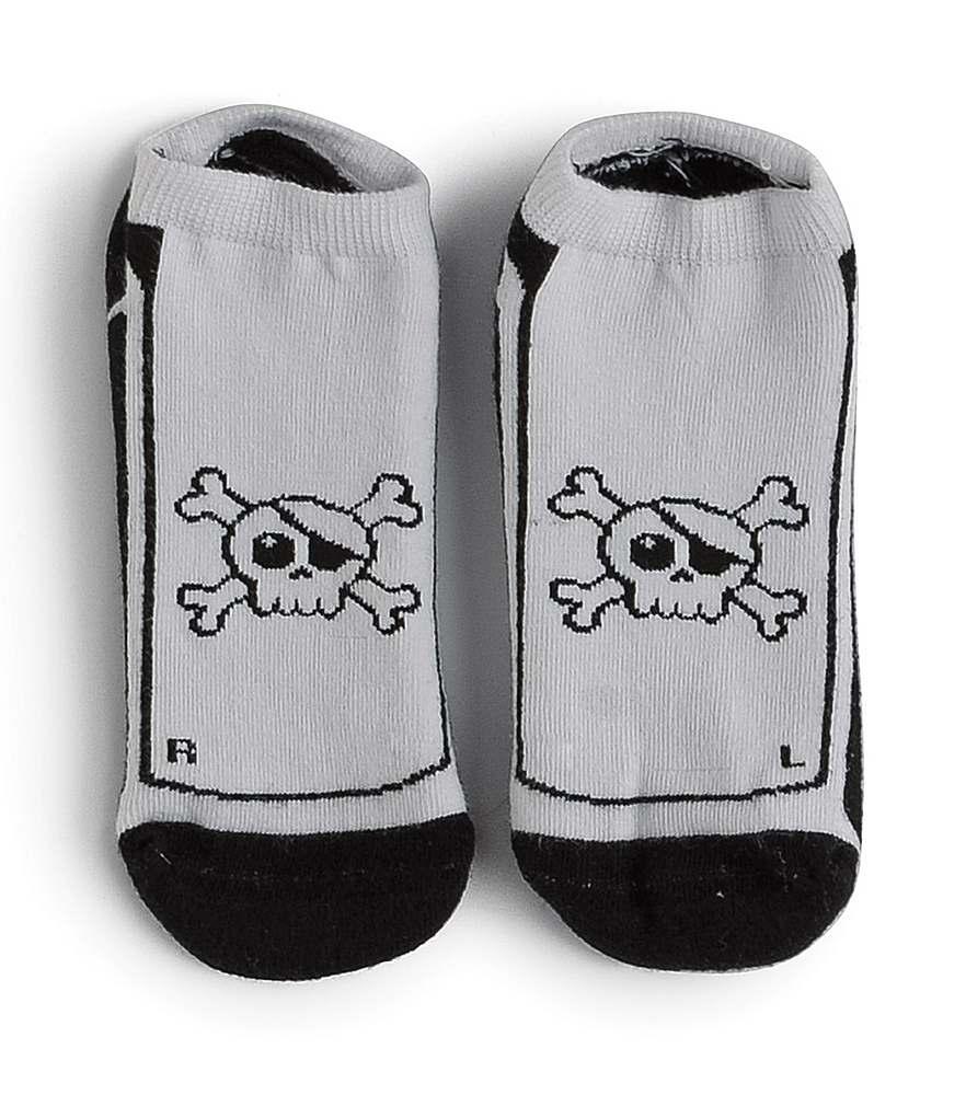 NU3048 / BLACK & WHITE / Skull Socks