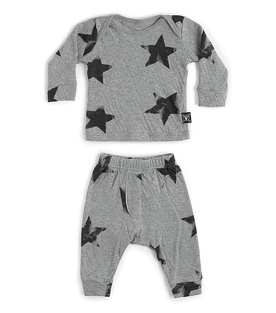 NUB029. / HEATHER GREY / Star Baby Set