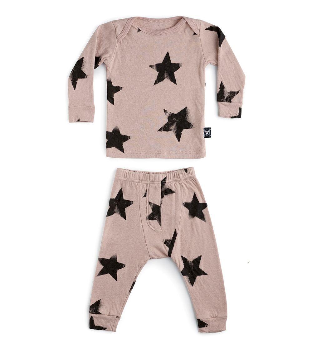 NUB029 / POWDER PINK / Star Baby Set