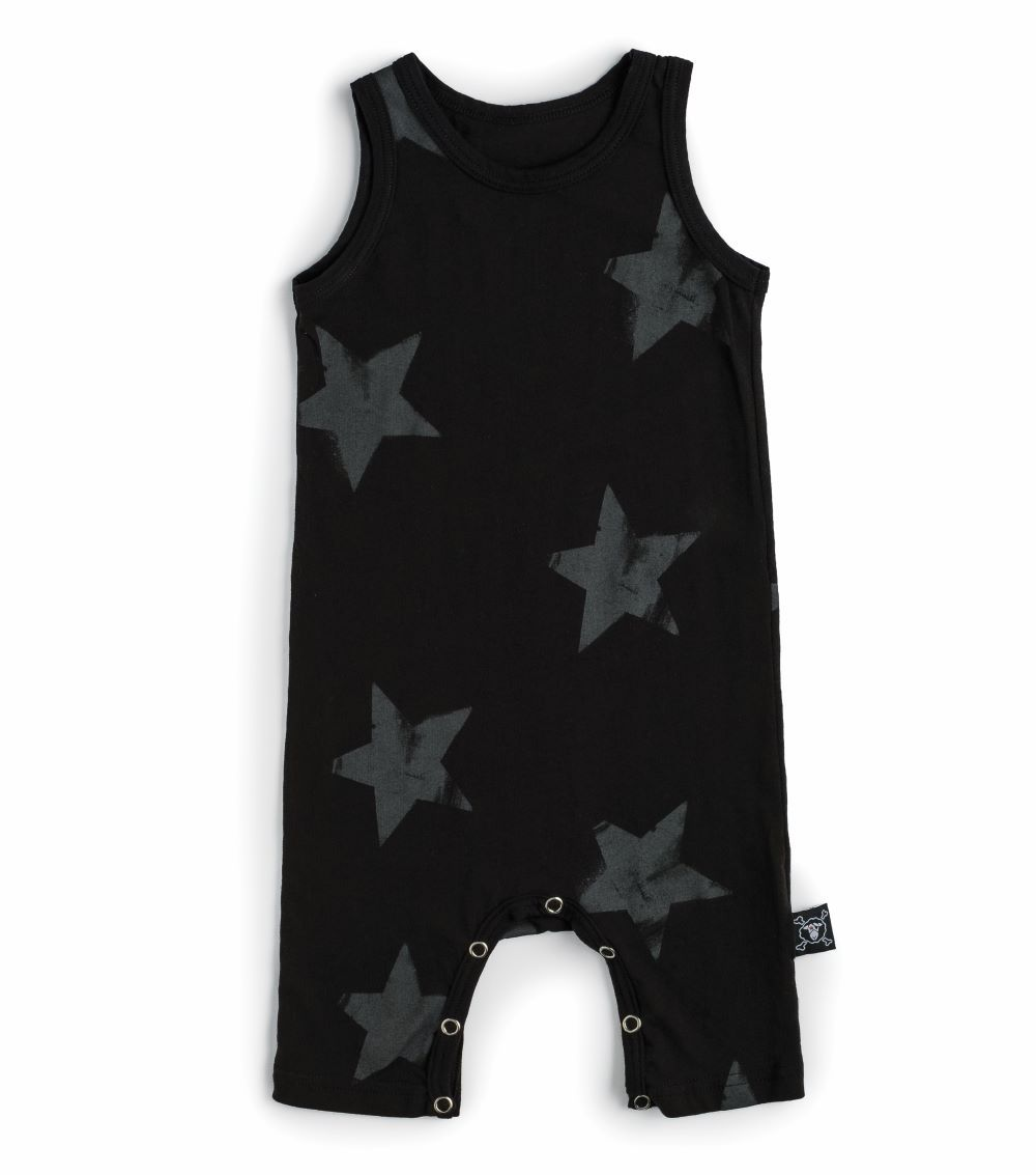 NUB036. / BLACK / Syat Tank Playsuit