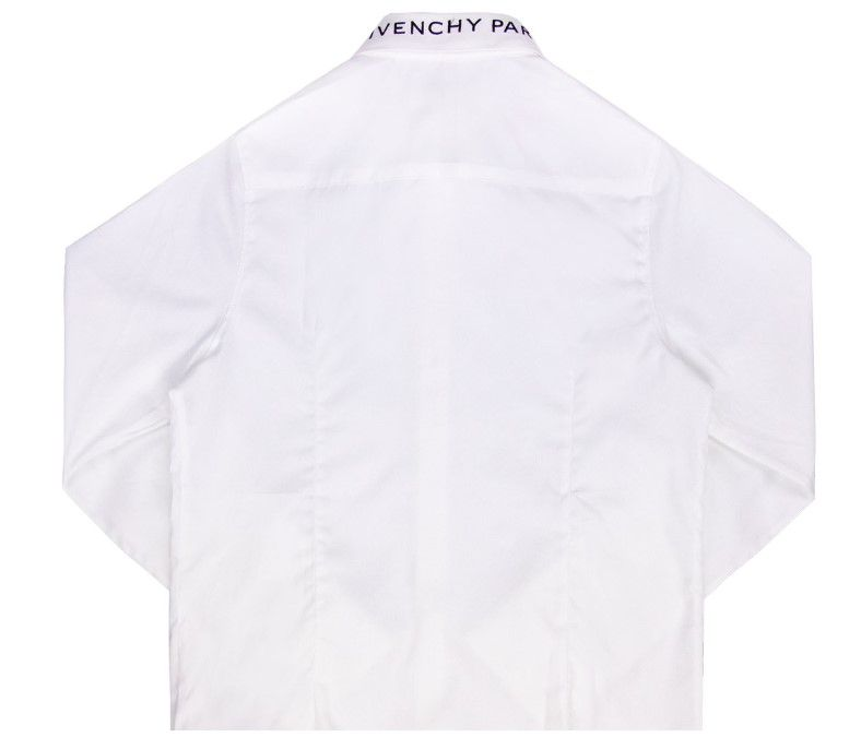 H25150 / WHITE / Givenchy Poplin Collar Monogram Shirt