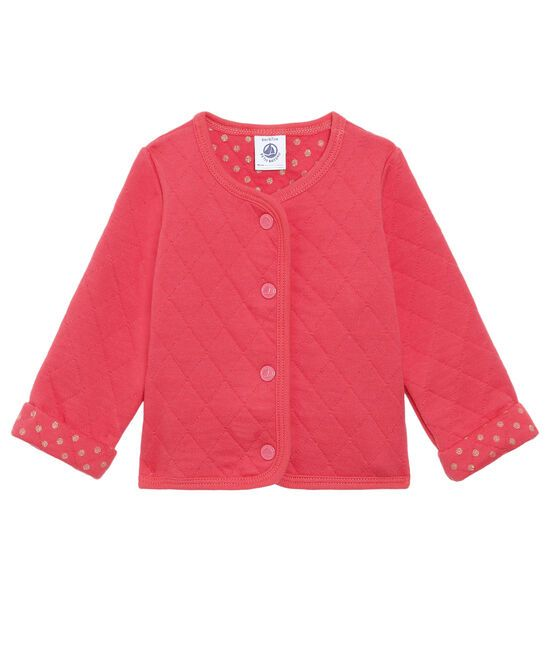 49962.02 / CORAL / Coral Quilted Cardigan