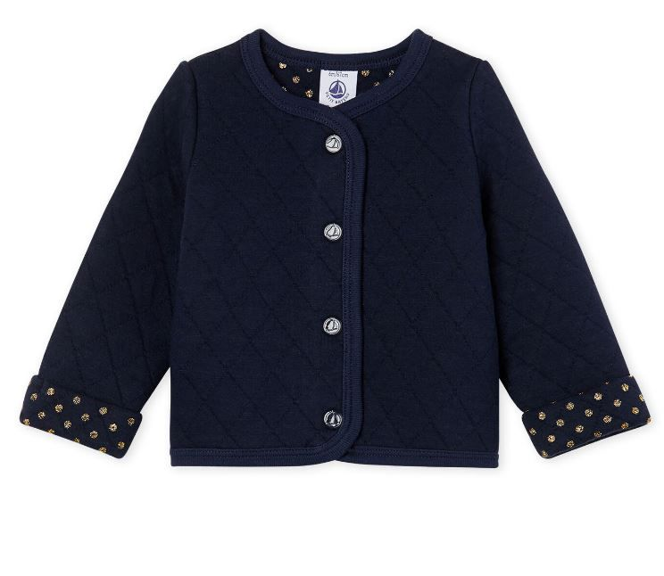 49962.03 / NAVY / Navy Quilted Cardigan
