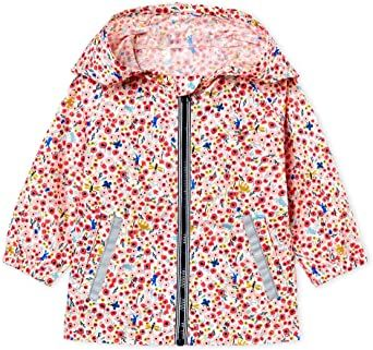 47652 / MULTI / Pink Floral Hooded Coat