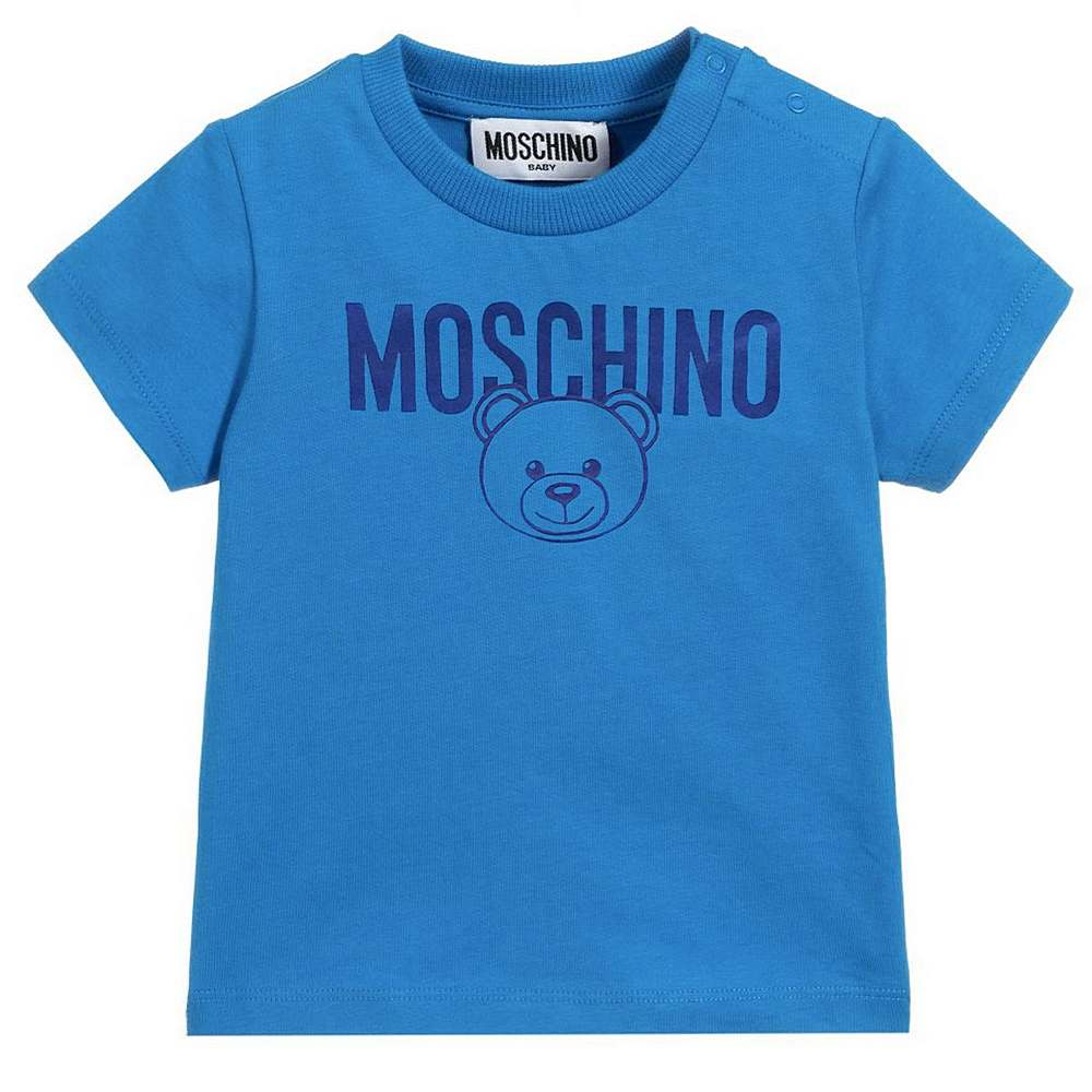 MZM02A LAA17. / 40320 STR BLUE / Ss Baby Tee  With Bear