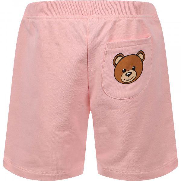 MUQ00C LDA27. / 50209 SUG ROSE / Baby Short W Logo and Bear Prt