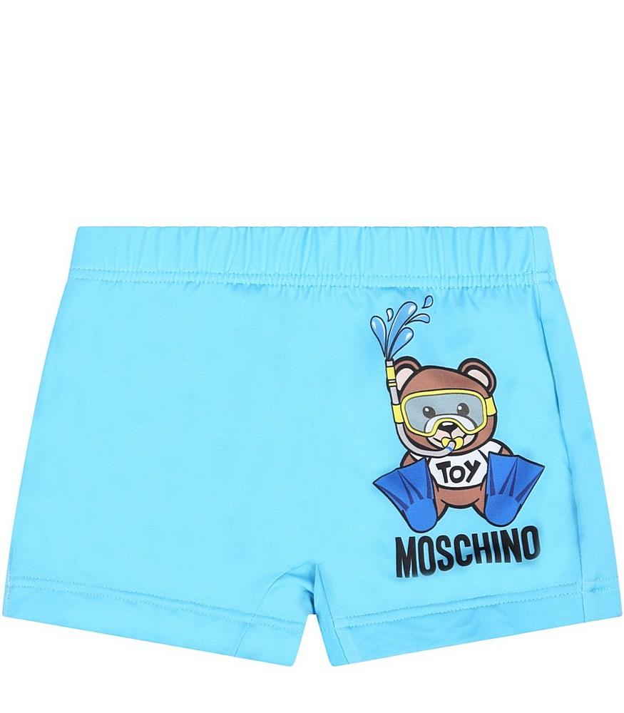 MNL006 LKA00 / 40522 ATOLL BLU / Bb Boy Swimsorts With Bear Prt and Gift Box