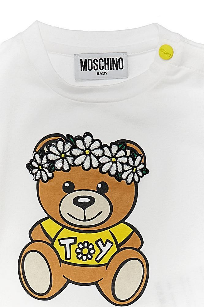 MDM02V LBA00 / 10101 WHITE / Bb Girl Ss Tee W Flow Bear Prt