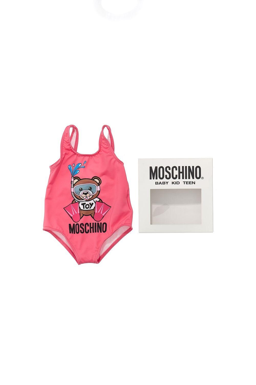 MEL00A LKA00 / 51108 CAM ROSE / Bb Girls Swimsuit W Sn Bear Prt and Gift Box