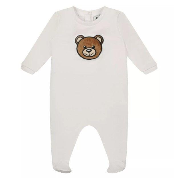 MPT01J LDA13 / 10101 WHITE / Baby Ls Footie W Bear Head and Giftbox