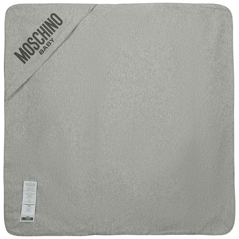 MNB006 LAB25. / 82166 GREY / Baby Blanket W Allover Print