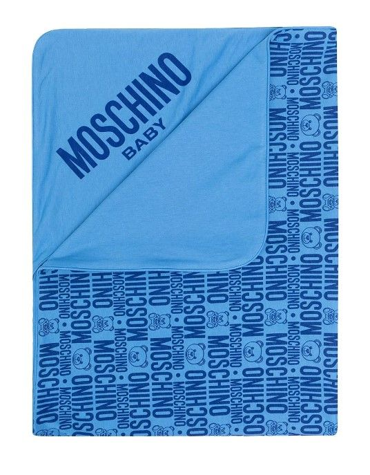 MNB006 LAB25 / 85556 BLUE / Baby Blanket W Allover Print
