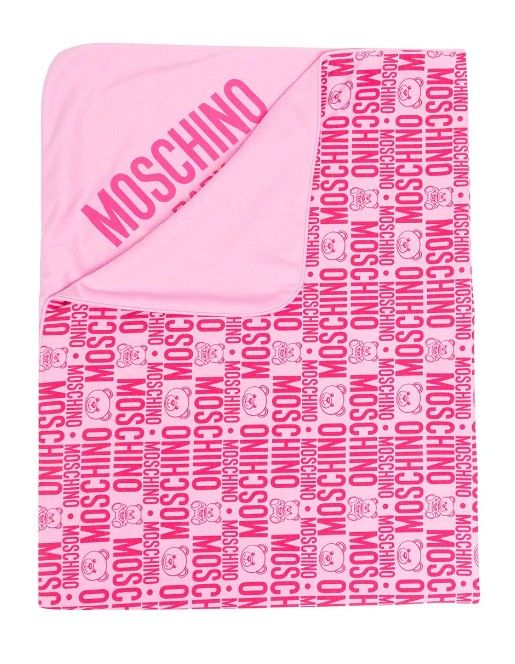 MNB006 LAB25- / 85557 FUXIA / Baby Blanket W Allover Print