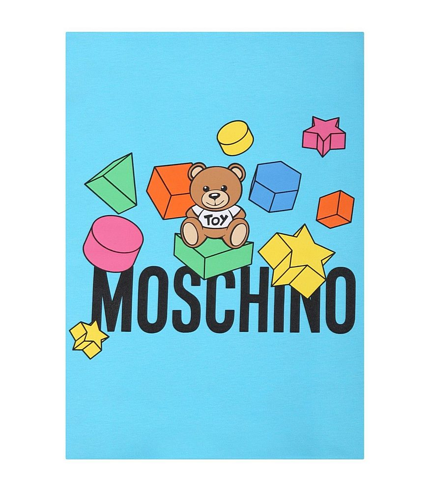 MUX03K LBB53 / 85837 BLUE / Baby Blanket W Geometric Toy Allover