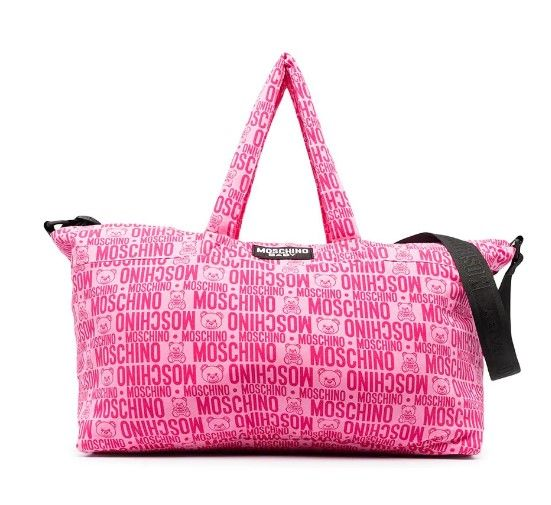 MMX03A LDB49 / 85557 FUXIA / Baby Changing Bag W Mat and Logo Prt Allover