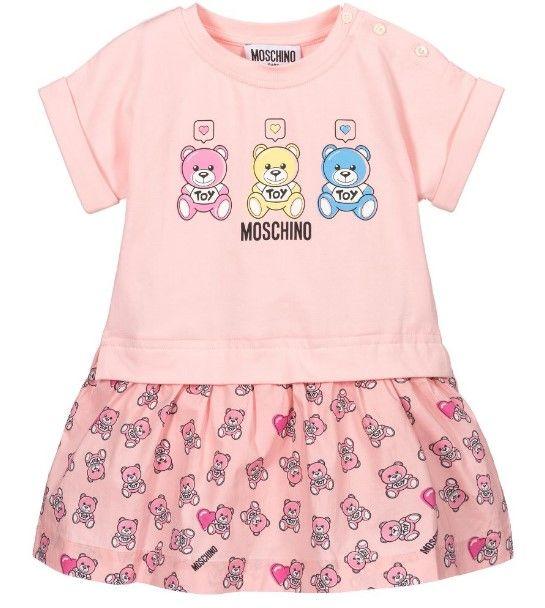 MDV08X LBA00 / 83343 SUG ROSE / Bb Girl Ss Dress W Three Bears Prt