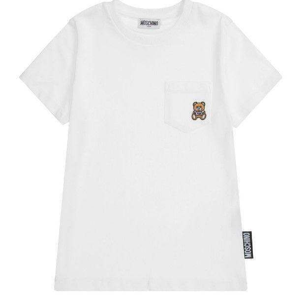 HUM02Z LBA10. / 10101 WHITE / Ss Tee W Pocket Bear Element on It