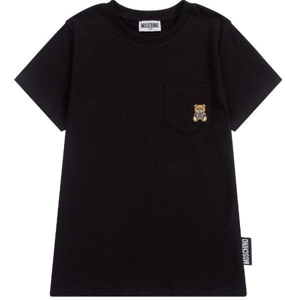 HUM02Z LBA10 / 60100 BLACK / Ss Tee W Pocket Bear Element on It
