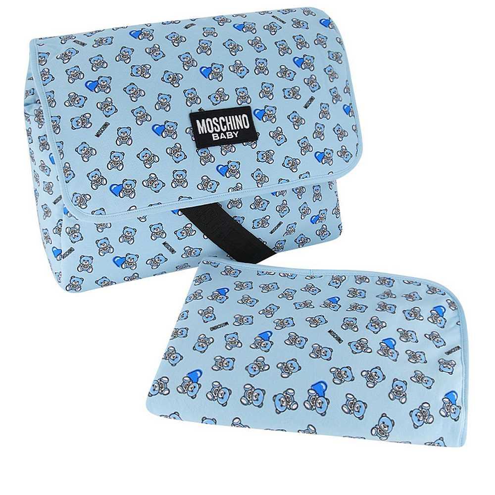 MMX03D LDB50. / 82162 SKY BLUE / Baby Changing Bag W Mat and Heart Bear Prt