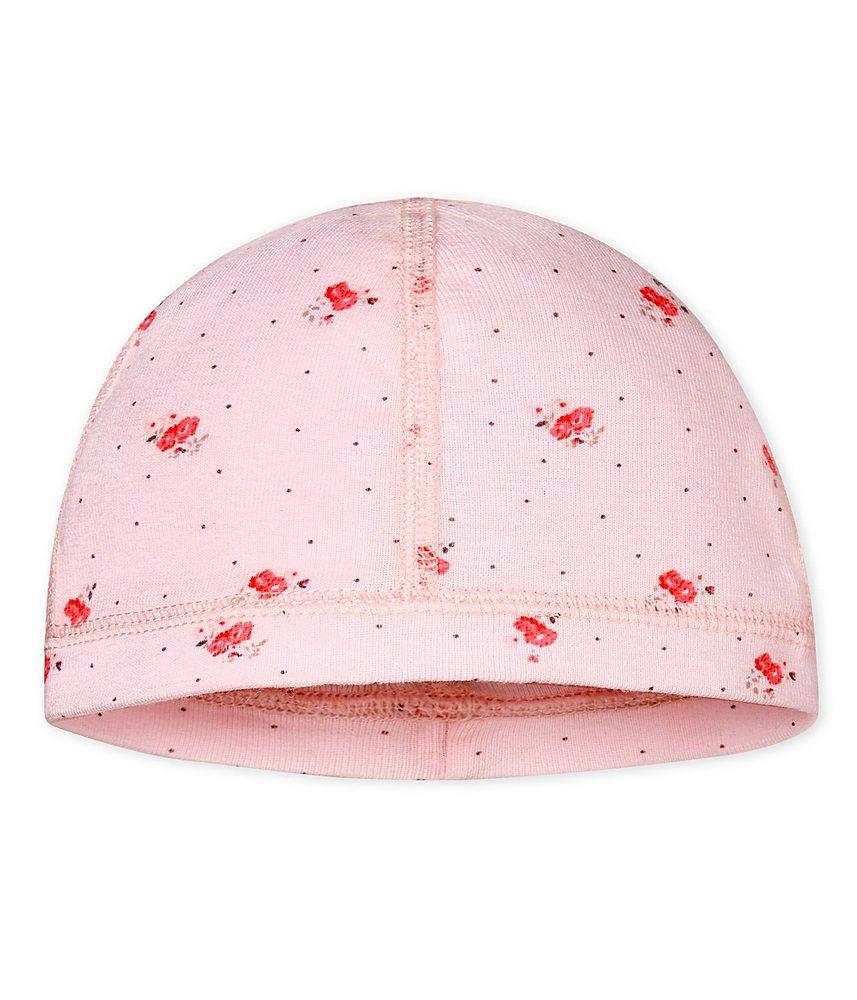 47042 / PINK / PETIT BATEAU HAT W/FLORAL PRINT
