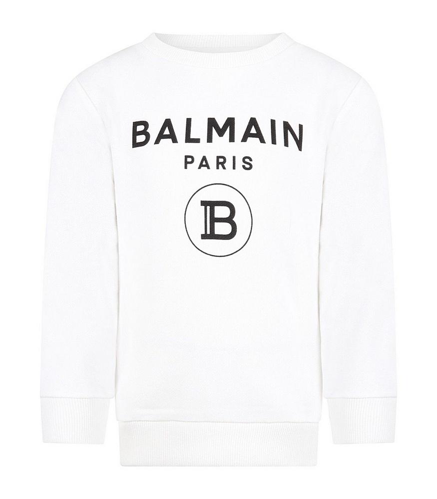 21 6M4760 MX270 100 WHITE BALMAIN SWEATSHIRT