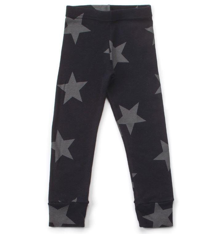 NU1557A / BLACK / Star Leggings