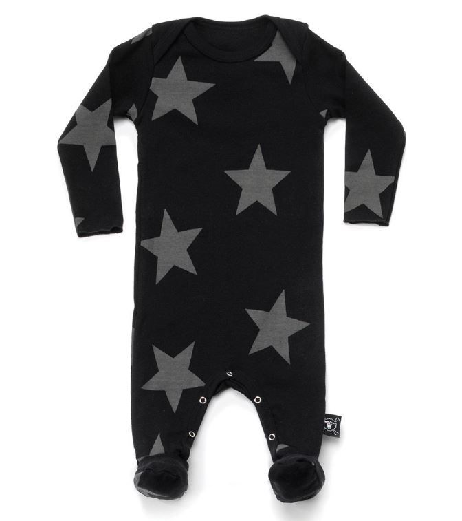 NU2030 / BLACK / Star Footed Overall