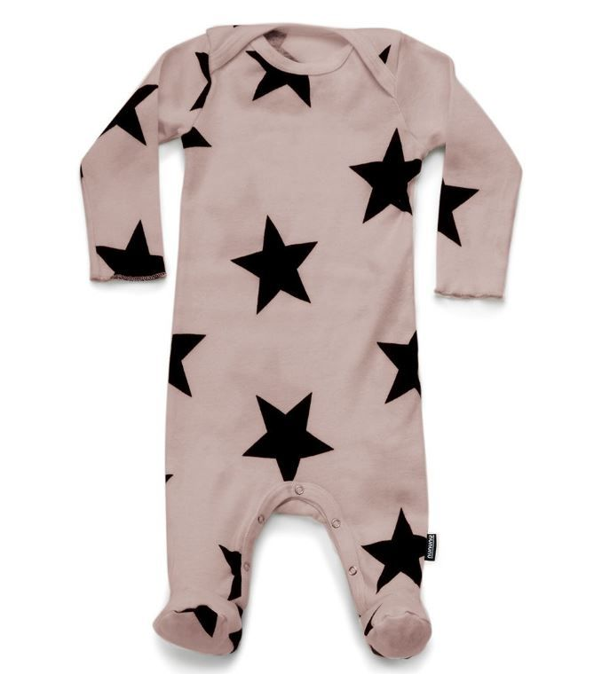 NU2030 / POWDER PINK / Star Footed Overall