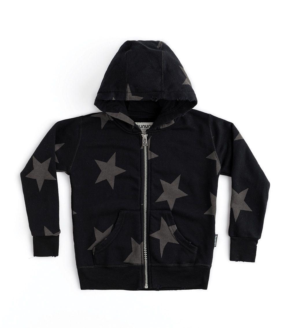 NU2327A / BLACK / Star Zip Hoodie
