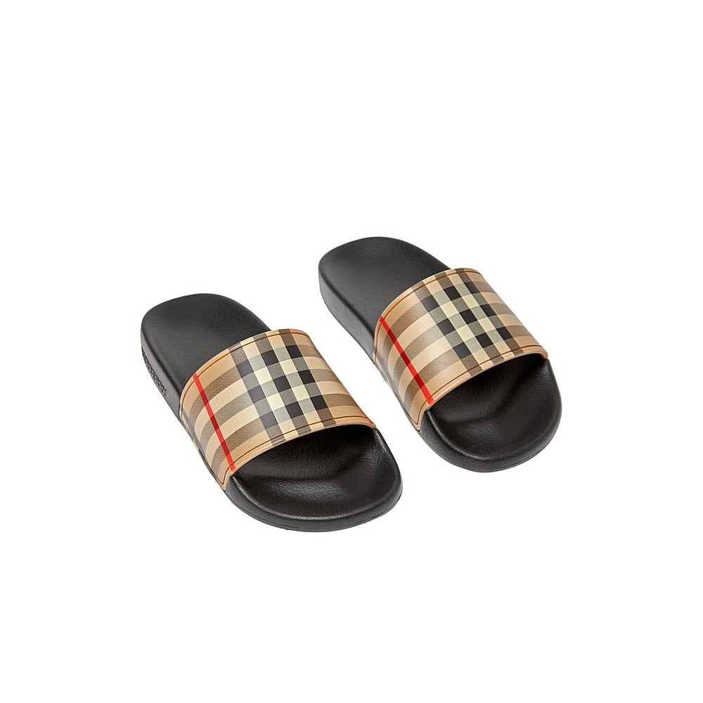 8027070.1 / ARCHIVE CHECK / BURBERRY MINI FURLEY SLIDES