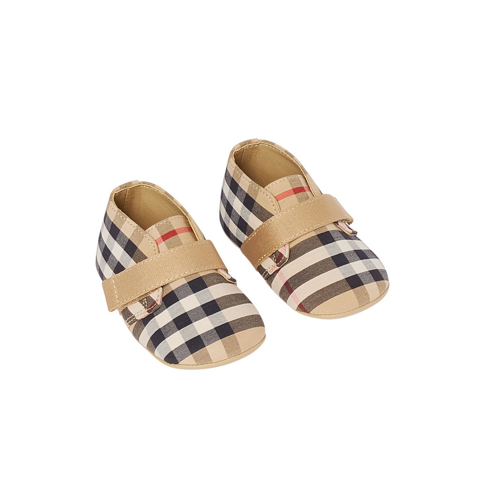 8031077 / ARCHIVE BEIGE / BURBERRY CHARLTON CHECK NB SHOES