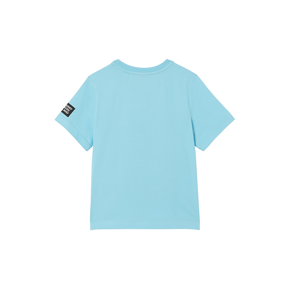 8038458 / PALE TURQUOISE / BURBERRY FLORAL LION BOY TEE