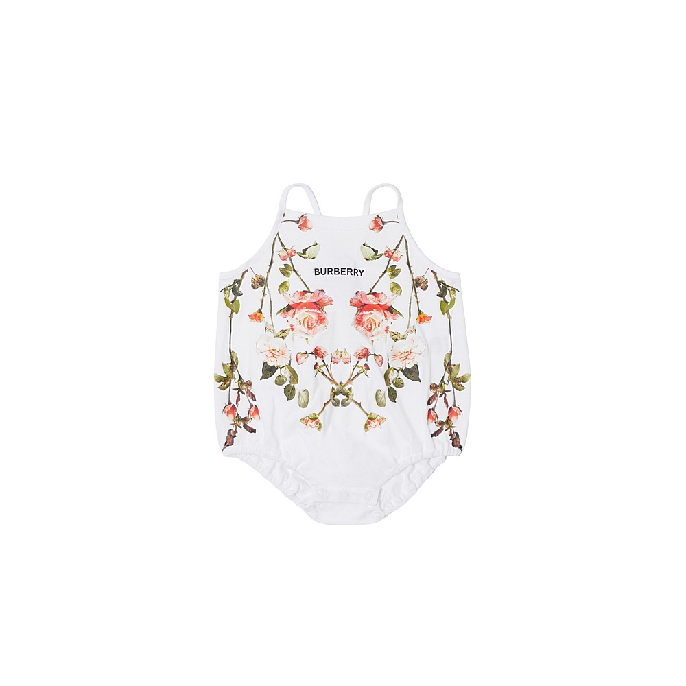 8038386 / WHITE / BURBERRY FLORAL BABY SET