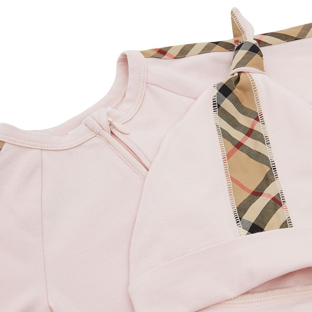 8037121 ICE PINK BODYSUIT PLAYSUIT GIFT SETS BURBERRY FOOTIE