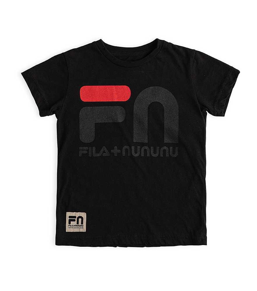 NF001A BLACK TEE SHIRTS TOPS NUNUNU