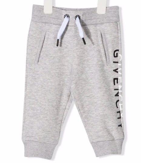 H04113 / A01 GREY MARL / Boy Sweatpant With Split Logo Detail