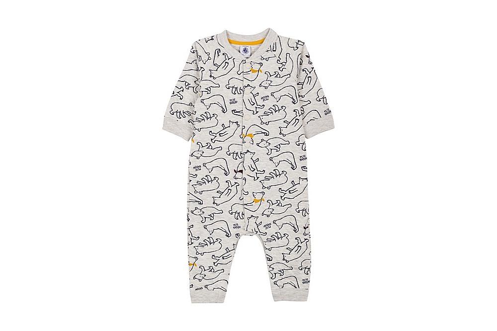 56607 LEGRIS / 01 GREY MULTI / Baby Boy Polar Bear Print Romper