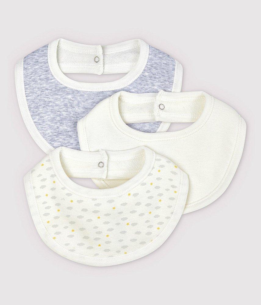 A01PK TOUSSA / 00 WHITE GREY / Baby 3 Pack Bibs