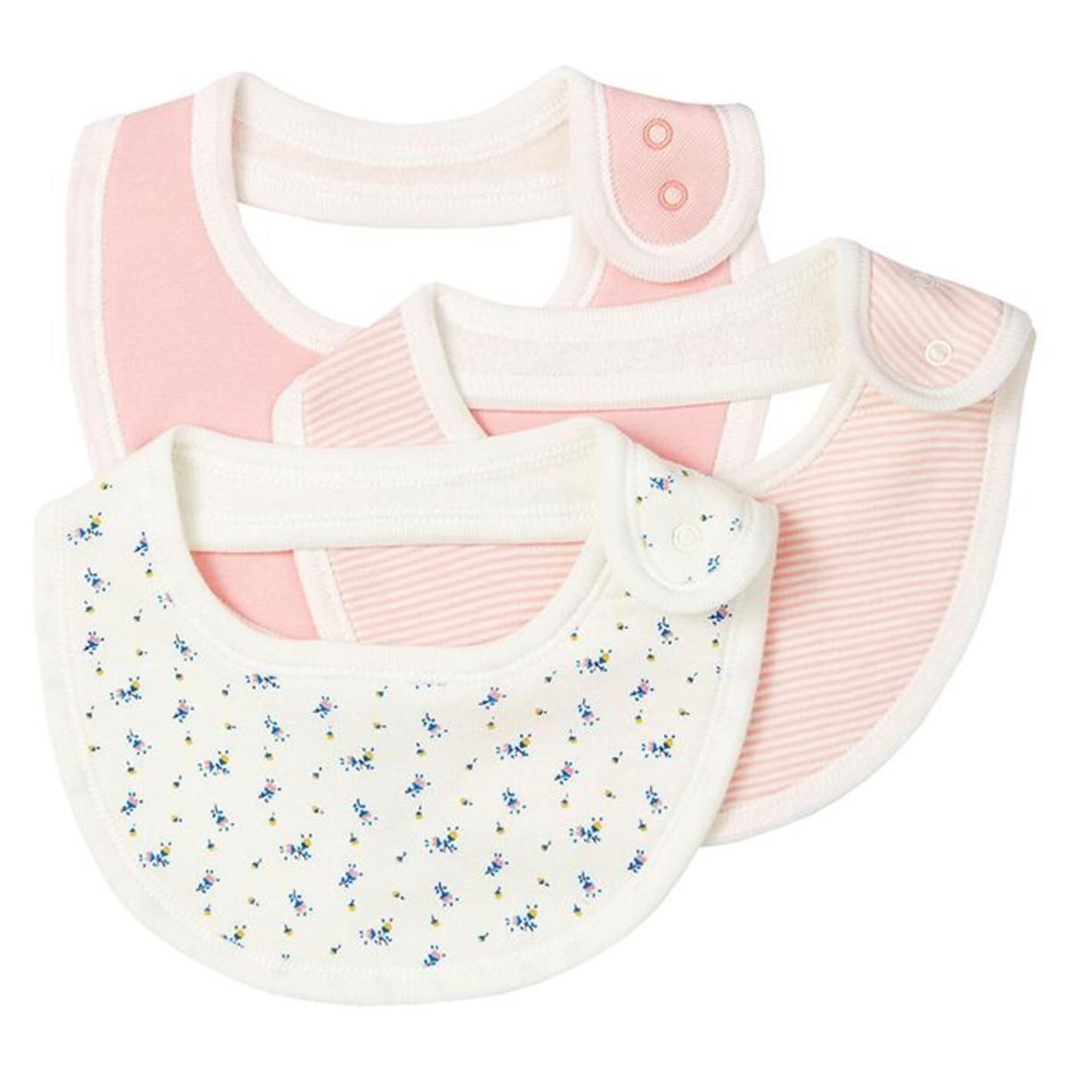 A0279 TADELE / 00 PINK MULTI / Baby 3 Pack Bibs
