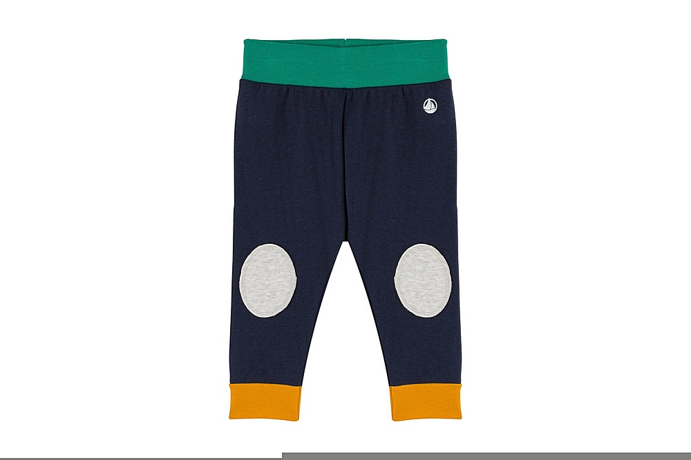 A030H THESPIS / 01 NAVY / Baby Boy Oants With Knee Patches