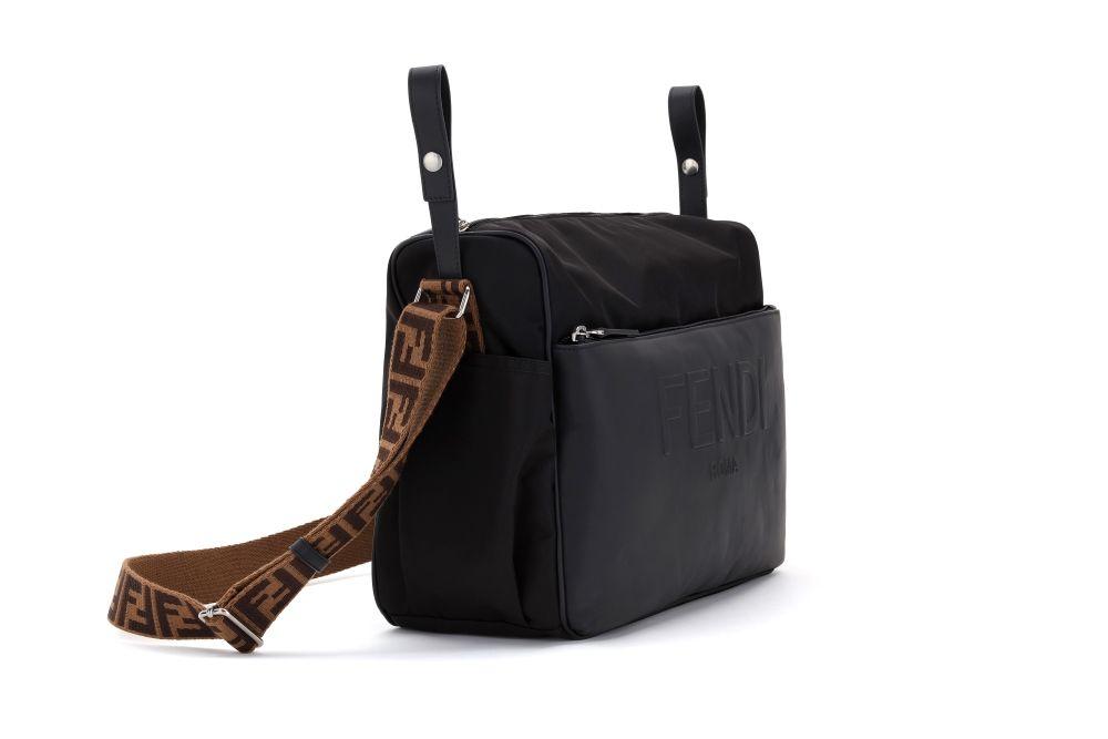 7VB014 BLACK/BROWN FENDI DIAPER BAG ACCESSORIES