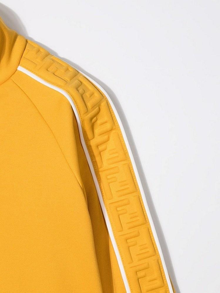 JUH031 A69D / F0LWV MUSTARD / Zip-Up Track Jacket W 3d Ff Logo